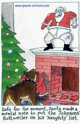 Funny santa claus comic picture