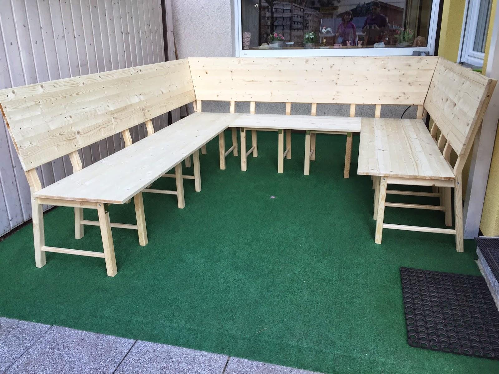 Eckbank Aus Holz Selber Bauen ~  DIY Ikea Hack  aus 8 Stühlen wird eine große Eckbank bzw Lounge