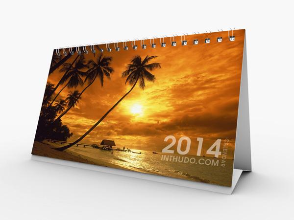 Mẫu lịch để bàn phong cảnh 2014