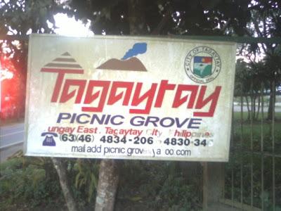 Picnic Grove Tagaytay signboard