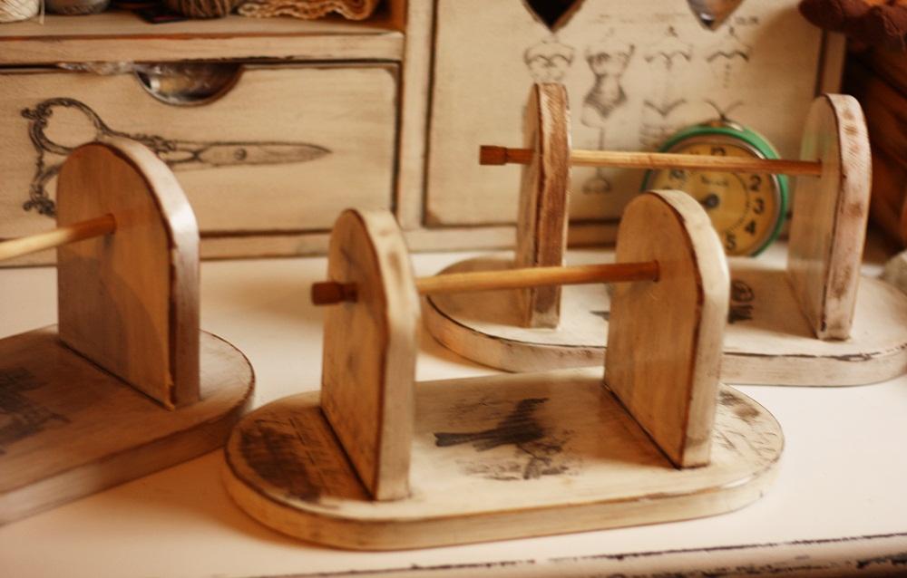 Drewniane kołowrotki