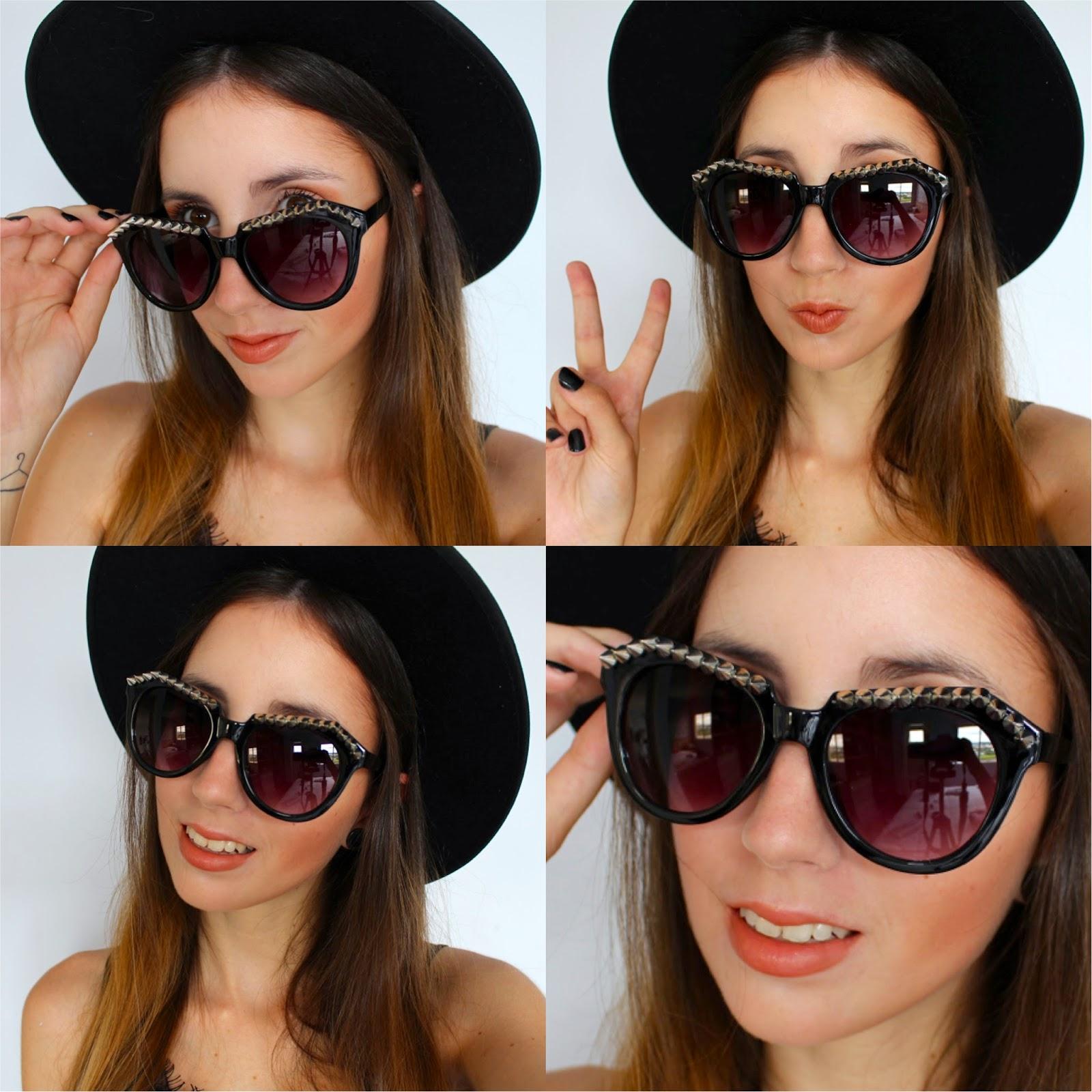 Óculos de Sol com spikes