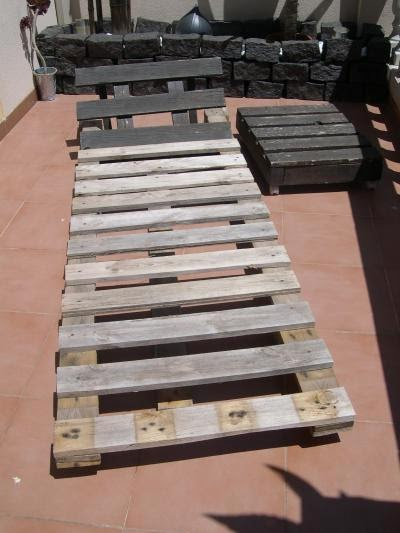 Hazte unos muebles de palets taringa - Como hacer una barra con palets ...