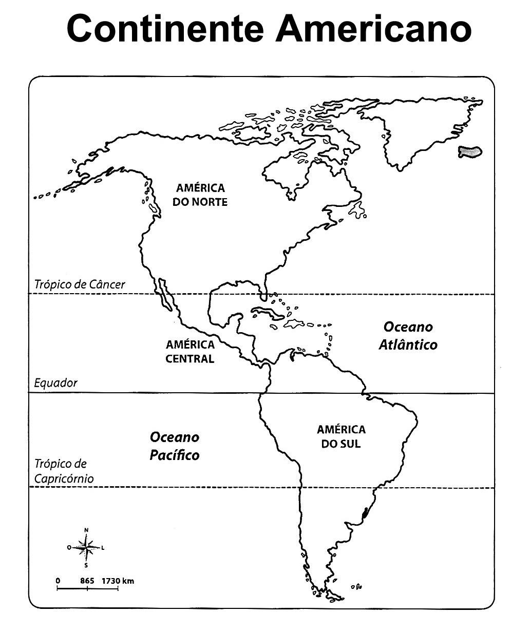 Pedaggiccos Mapa Continente Americano