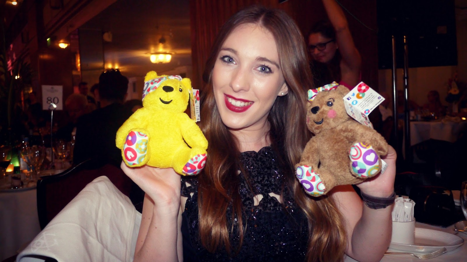 Children in Need An Evening with the Stars gala dinner pudsey