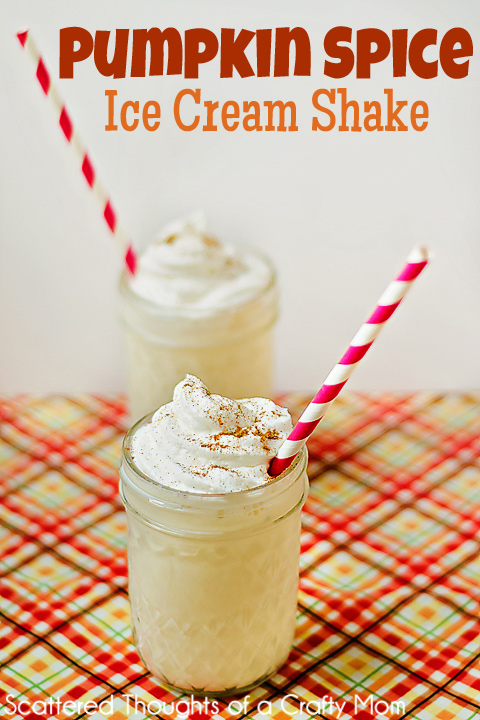 Pumpkin Spice Ice Cream Shake Recipe #pumpkin #shake