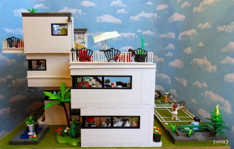 Art deco style 5574 house playmobil collectors club for Modernes haus playmobil