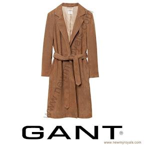Princess Sofia Style GANT Suede Coat