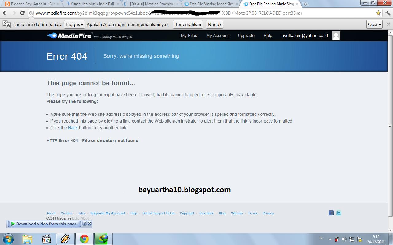 getting a 404 not found error