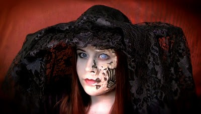 Rotting Pam Black Lace Hat@northmanspartyvamps.com