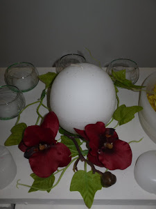 Esfera 10 cm con orquideas