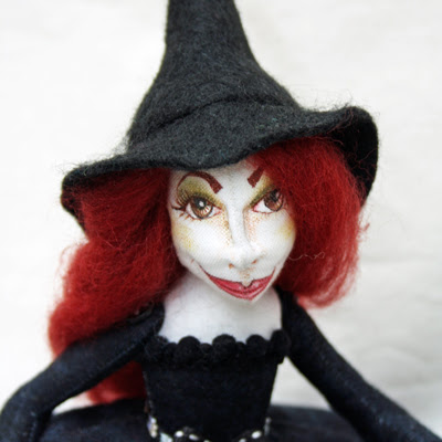 witch cloth art doll