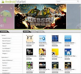 Android Market website debuts