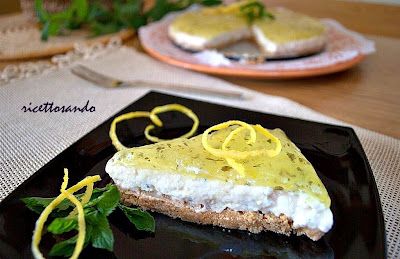 cheesecake limone e menta