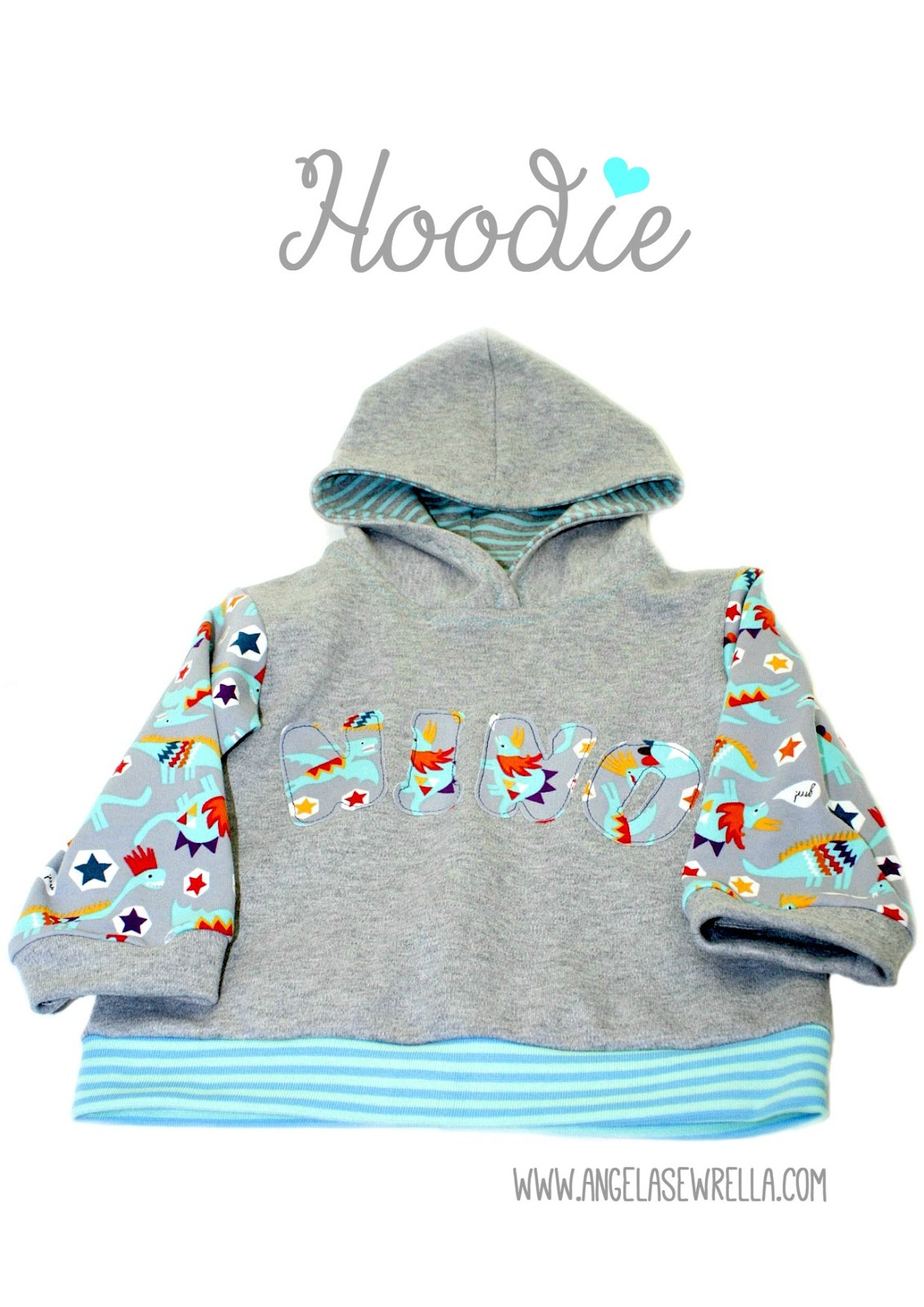 selbstgenähter Hoodie nach Farbenmix für meinen kleinen Enkel