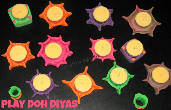 Play Doh Diya lamp
