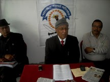 BGP president Dr. Enos Pradhan at the press meet in Kalimpong on Monday.