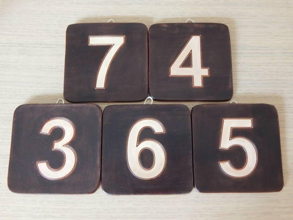 Segna porte per camere con numero in rilievo