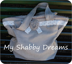 Borsa Shabby con rosa