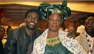 Emmanuel Adebayor and his mother