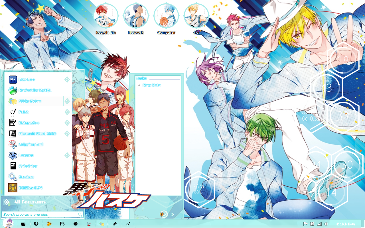 Google themes kuroko no basket -  Theme Windows 7 Kiseki No Sedai Kuroko No Basket By Kurohtenshi