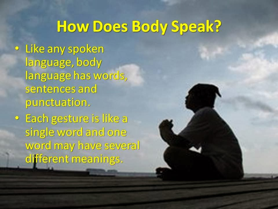 Body Language PPT Slide 1