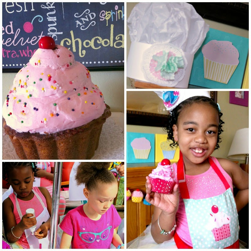 little cupcake, cupcake cake, giant cupcake, baker's hats for parties