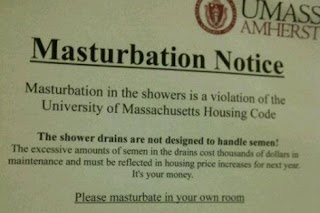 umass masturbation notice