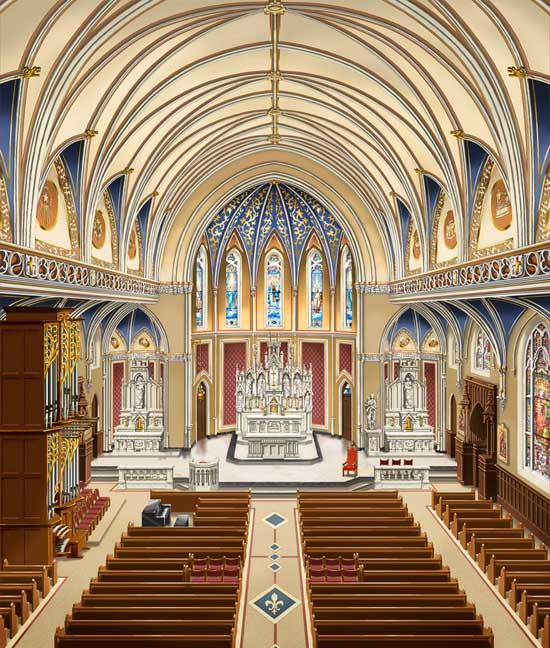 Elegant Church Interior Design Home Design Ideas