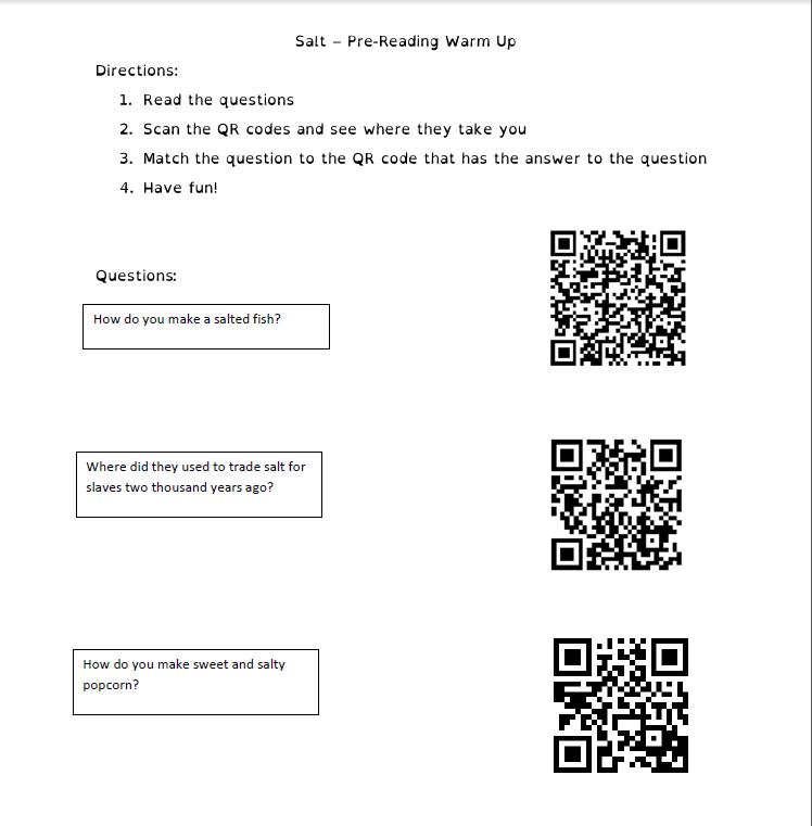 Qr Code Worksheets For Esl Qr Code Worksheets For Esl Related To