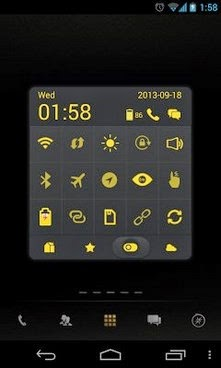 Dark Yellow Toucher Pro Theme apk free
