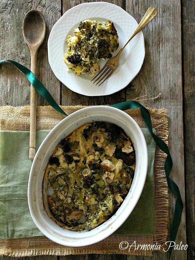 Clafoutis di Merluzzo e Broccoli di Armonia Paleo