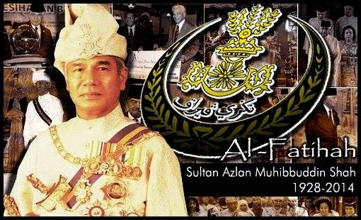Sultan Azlan Shah, Sultan memerintah Negeri Perak telah mangkat pada jam 1.30 petang (28 Mei 2014) di IJN, Kuala Lumpur pada usia 86 tahun.