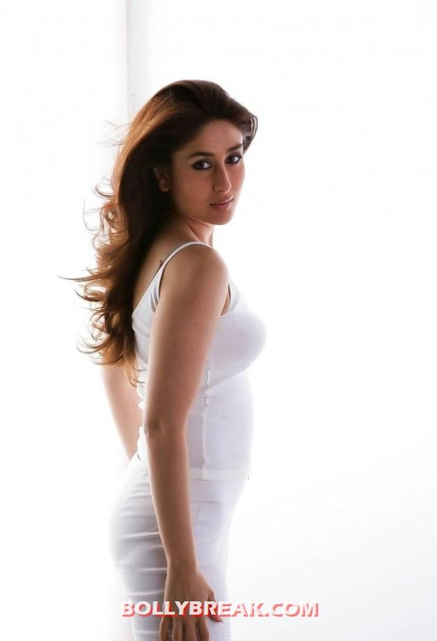  Kareena Kapoor hot in white innerware -  Kareena Kapoor  Hot Photoshoot in White innerware