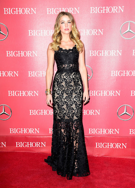Actress, @ Amber Heard - 27th Annual Palm Springs International Film Festival Awards Gala