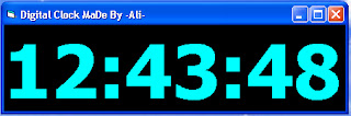 Digital Clock By -Ali-
