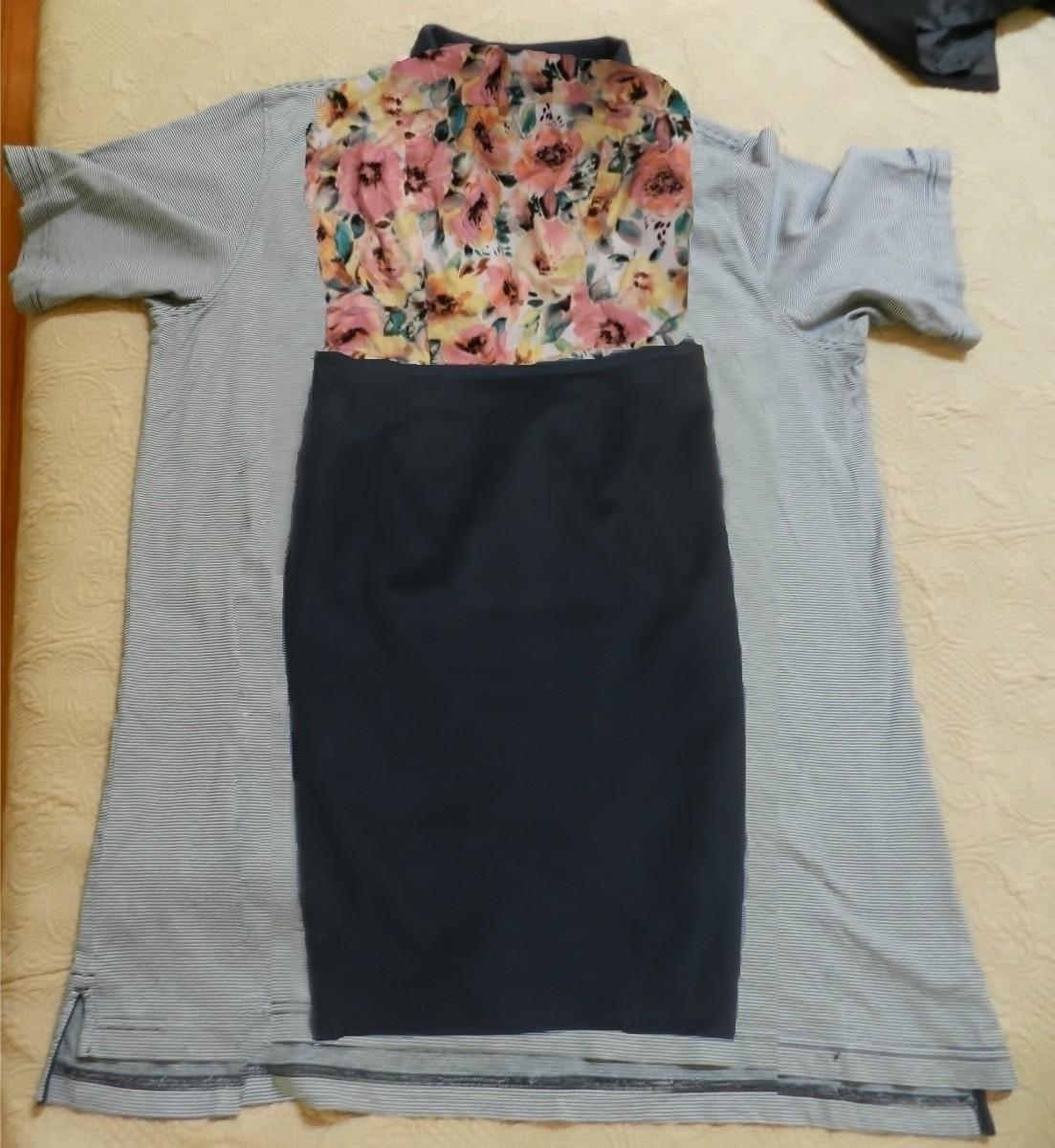 Своими руками из футболки и юбки платье