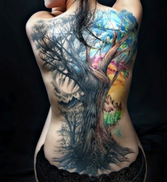 Tree Tattoo on Backside