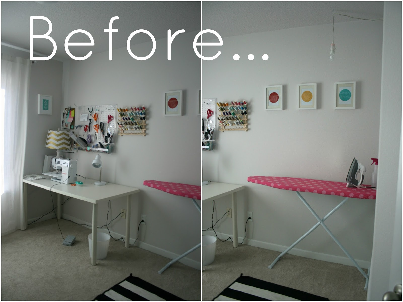 An office d cor update and amazing diy create enjoy - Small space sewing area style ...