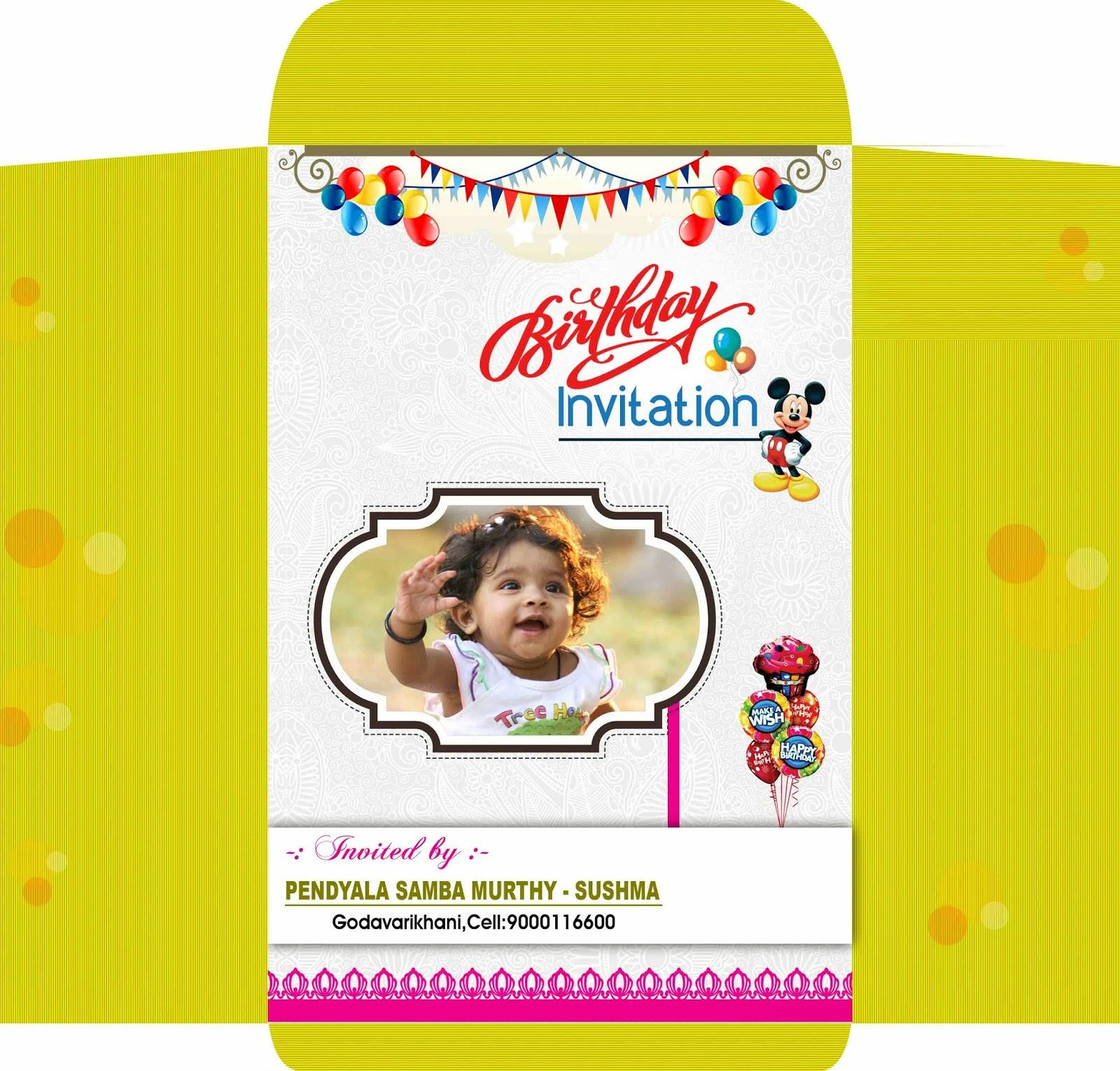 Birthday Invitation Card & Cover Design