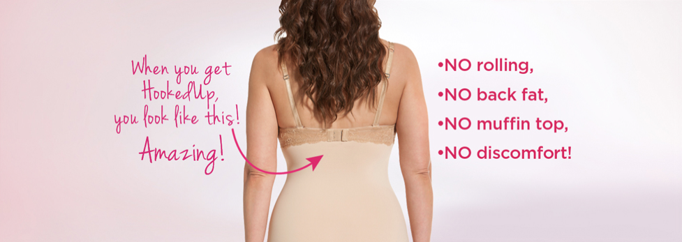 Plus size shapewear that doesn't roll down, HookedUp Shapewear