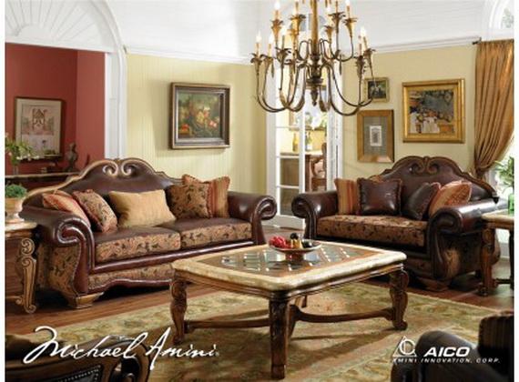 الأثاث الكلاسيكي لغرفة الجلوس