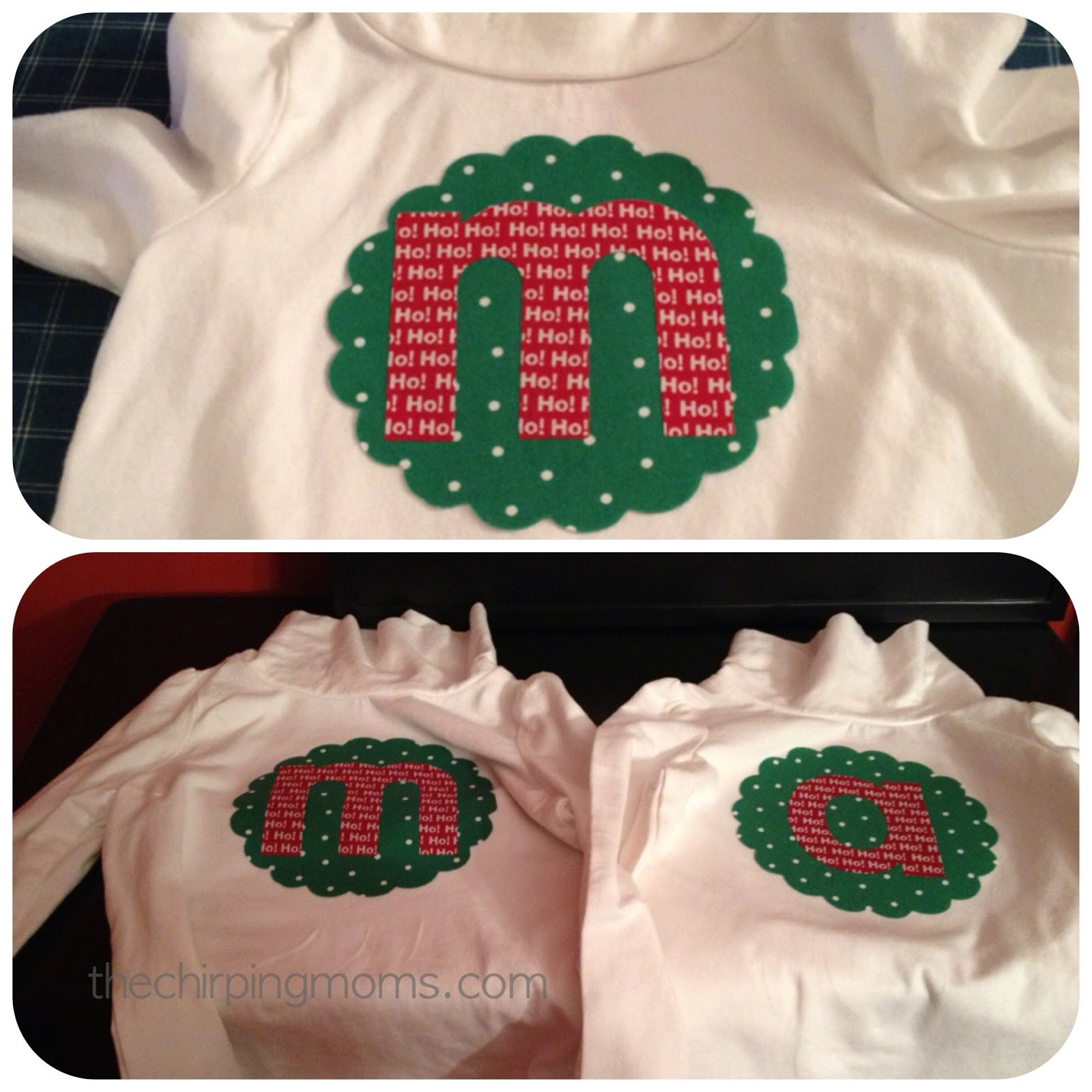 Two Simple Ways to Make Christmas Shirts - The Chirping Moms