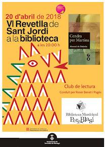 Club de Lectura Revetlla de Sant Jordi divendres 20 d'abril a les 20.00 h
