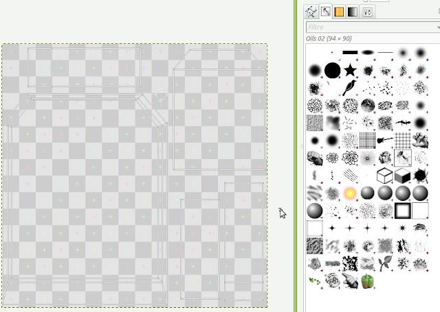Pincéis do GIMP