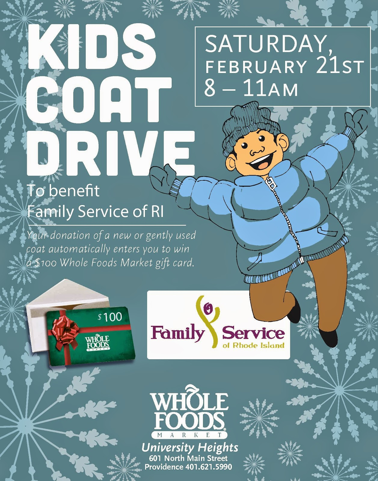 Whole Foods Holding Coat Drive to Benefit Family Service of RI