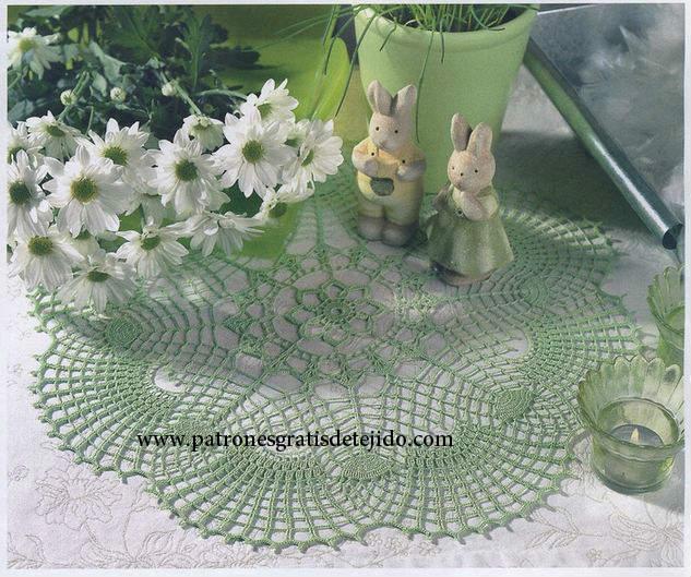 Diagrama crochet de carpeta verde