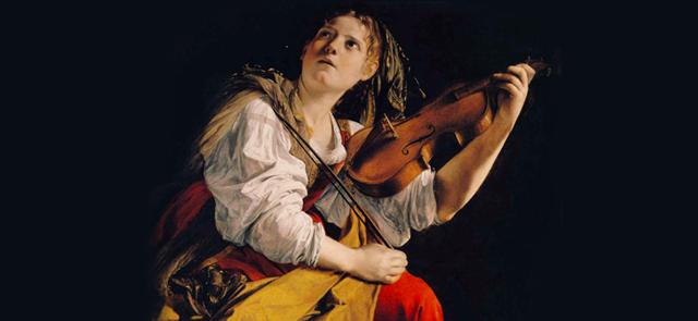 Orazio Gentileschi - Young Woman Playing a Violin