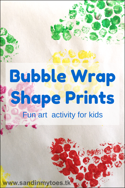 Fun art activity for toddlers and preschoolers using bubble wrap!
