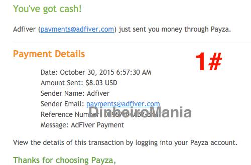 Pagamento Payza Adfiver